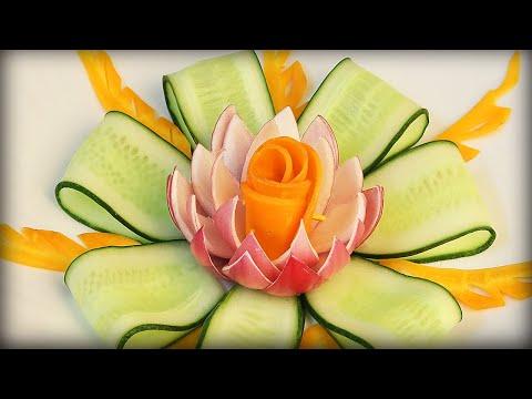 Apple Carving Flower Fruits Decoration Fruits Decoration For