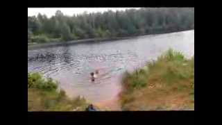Stelpe Luxuries - Kids Swimming In Our Forest Lake