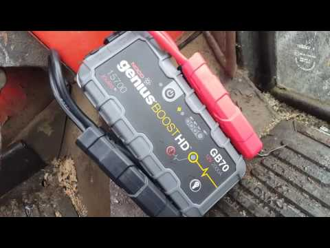 Noco Genius Boost HD GB70 demonstration and review on my Zetor cold crank