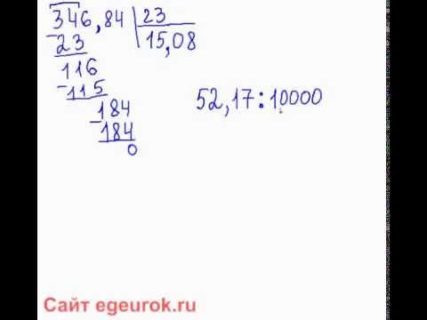 деление десятичных дробей на натуральные числа