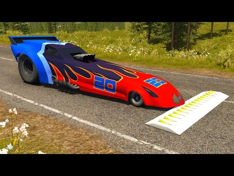 Spike Strip High Speed Testing - BeamNG DRIVE Part 6