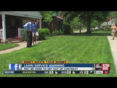 Don't Waste Your Money: Lawn service contract warning