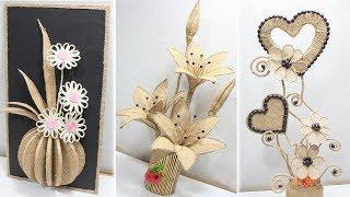 5 Flower vase decoration ideas with jute   Home decoration ideas