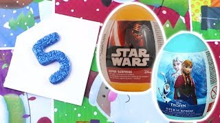 Unwrapping Frozen & Star Wars Surprise Eggs | 12 Days of Christmas: DAY 5| Toy Store - Toys for Kids