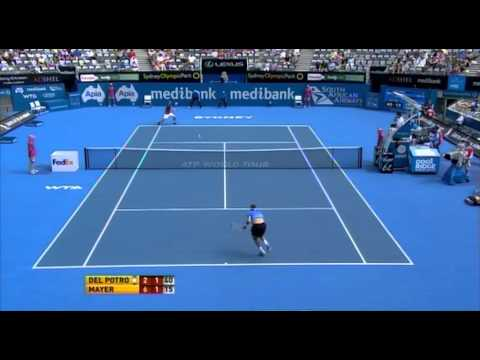 Medibank International Sydney: Del Potro vs Mayer Highlights