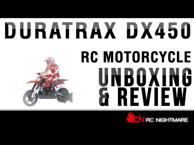Duratrax DX450 1/5 Scale RC Motorcycle Unboxing & First Review