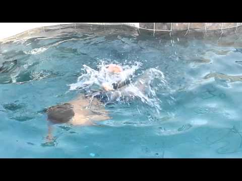 Swimming at Grandmas