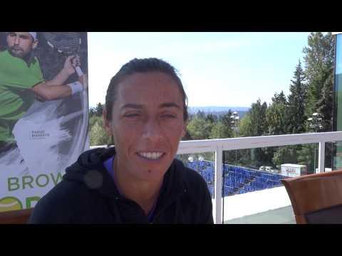 Francesca Schiavone (ITA) Interview フランチェスカ・スキアボーネ選手 ITF Vancouver 2015