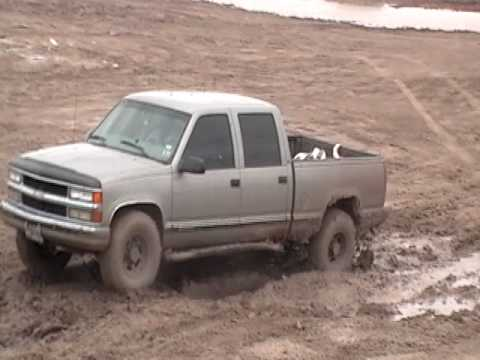 98 2500 4 door chevy mudding - YouTube