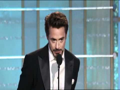 Avengers Star Robert Downey Jr Wins Best Actor Motion Picture Musical or Comedy - Golden Globes 2010