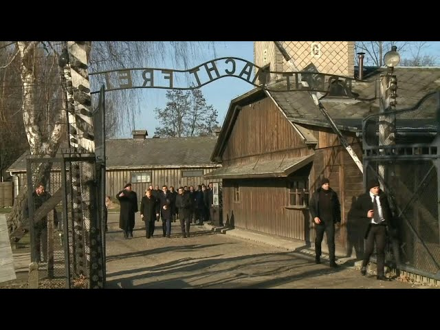 German Chancellor Angela Merkel visits Auschwitz for first time  AFP