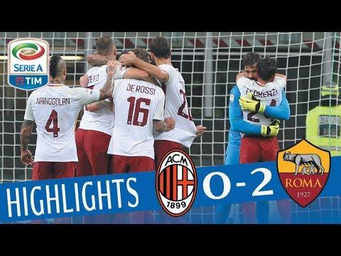 Milan - Roma - 0-2 - Highlights - Giornata 7 - Serie A TIM 2017/18