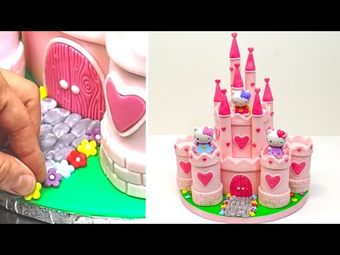Hello Kitty Princess Castle Cake/Como hacer una TARTA CASTILLO