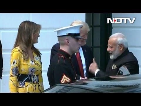 PM Modi, Trump Shake Hands At White House