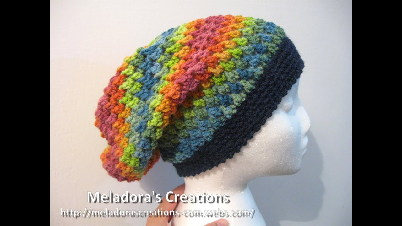 Crochet Tutorial Hat : Butterfly Stitch Slouch Hat - Crochet Tutorial - YouTube