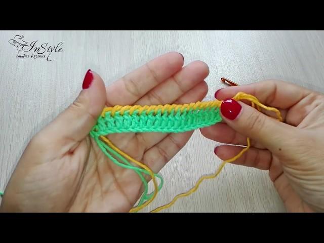 Рачий шаг. Вязание крючком (Reverse Single Crochet)