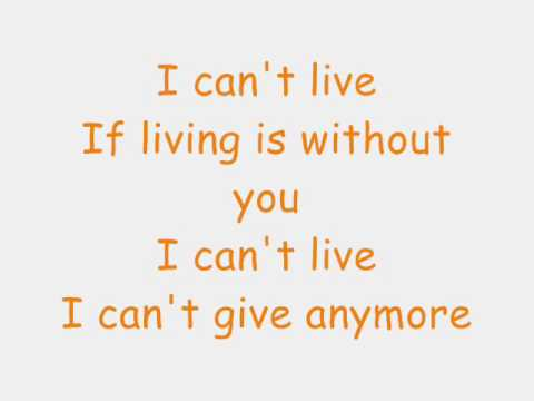 Without you lyrics- Mariah Carey Video