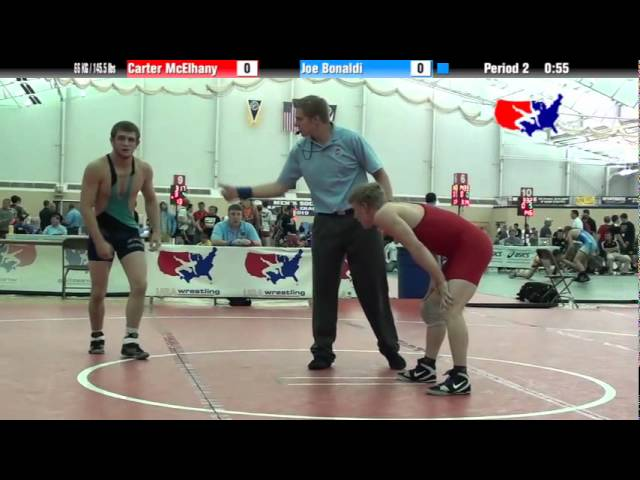 University Nat`ls FS  66 KG / 145.5 lbs: Carter McElhany vs. Joe Bonaldi