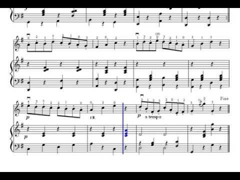 Partitura Gavotte F. J. Gossec Nº17 Violín Y Piano Método Suzuki Libro Nº 1