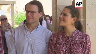 Crown Princess Victoria visits Jesus' baptism site
