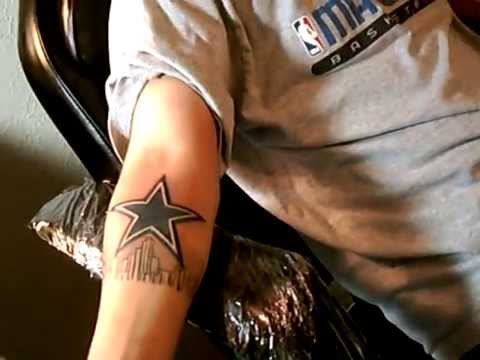 Tattoo of Dallas Cowboys Star