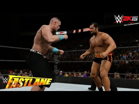 Wwe 2k15 Fast Lane 2015 - United States Champion Rusev Vs John Cena! (updated Attires) video