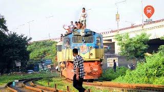 Jayantika Express Train Entering Dhaka Hauled By Hyundai Rotem Loco