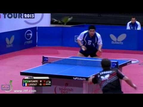 2013 Ittf. Open Spanish. Final. Men: Matsumoto C. (bra) Vs Legout C. (fra) video