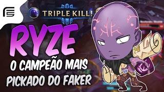 O CAMPEÃO MAIS PICKADO PELO FAKER - RYZE MID GAMEPLAY - League of Legends - Fiv5 gameplay