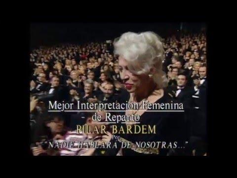 Pilar Bardem recoge el Goya a Mejor Actriz de Reparto en 1996