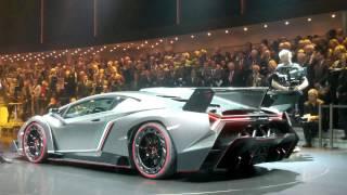 Lamborghini Veneno High Revs Sound World Premiere Geneva 2013