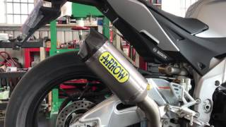 Aprilia RSV4 RR/RF - ARROW EVO SLIP ON Titanium silencer with Carby end Cap