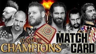 WWE Clash Of Champions 2016 Matchcard