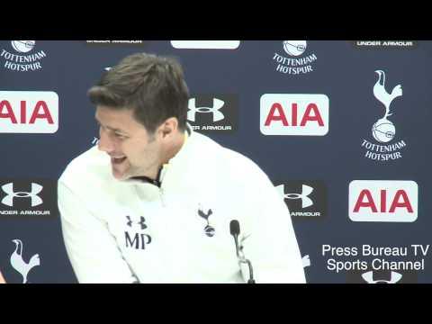 Mauricio Pochettino pre Tottenham vs Aston Villa