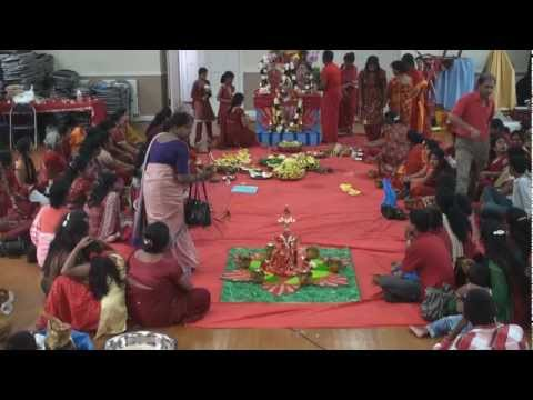 Adi Pooram 2011 - Arulmigu Melmaruvathur Adhiparasakthi Harrow Mandram Uk - Part 1 (preparation) video