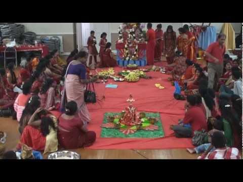Adi Pooram 2011 - Arulmigu Melmaruvathur Adhiparasakthi Harrow Mandram Uk - Part 1 (preparation) video