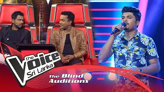 Sanjeewa Bandara - Ape Hangum Walata Idadee  Blind Auditions | The Voice Sri Lanka