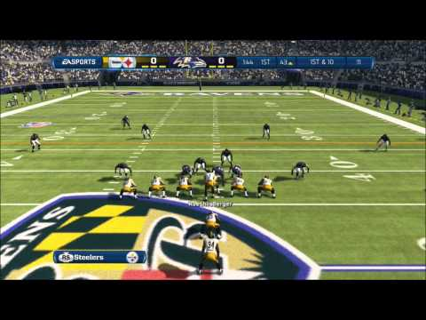 Madden NFL 13 Gameplay: Steelers vs Ravens, light commentary