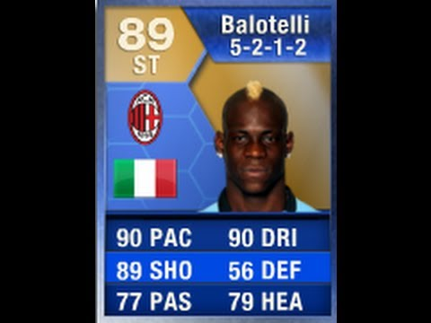 FIFA 13 TOTS BALOTELLI 89 Player Review & In Game Stats Ultimate Team