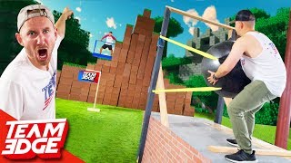 Shoot the Person in The GIANT Minecraft Fort!!