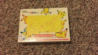 New 3DS XL Pikachu Yellow Edition Unboxing