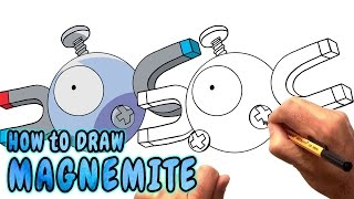 How to Draw Magnemite from Pokemon Go - Very Rare (NARRATED)