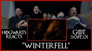Hogwarts Reacts: GoT S08E01 - Winterfell