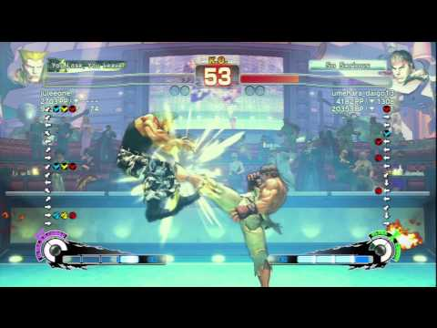 Guile(juleeone) VS Ryu(umehara_daigo13)