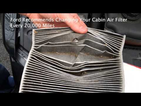 HOW TO: Ford Mustang Cabin Air Filter Replacement / Installation (2005-2013)