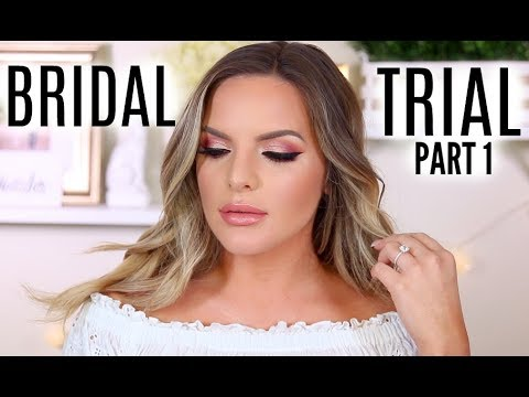 BRIDAL TRIAL MAKEUP TUTORIAL! WHAT AM I GOING TO WEAR?  PART 1  Casey Holmes