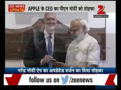 Apple CEO Tim Cook meets PM Modi, unveils updated version of PM's mobile app