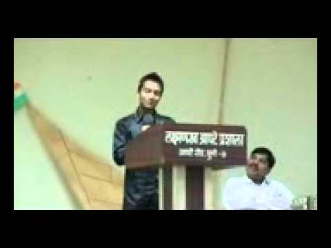 Farewell Speech  Laxmanrao Apte Jr. College ,2011-12. ( A Marathi Poem On College ) video