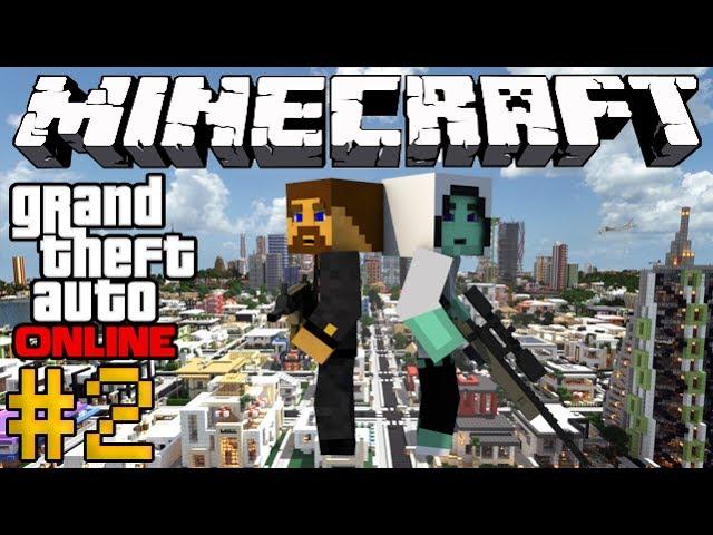 Minecraft GTA Online #2 - Гонки на машинах
