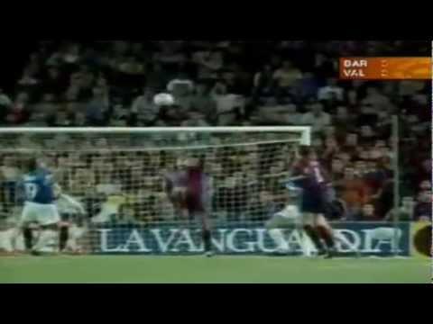 Barcelona 3 X 2 Valencia - Game history Rivaldo - Season 2000-2001